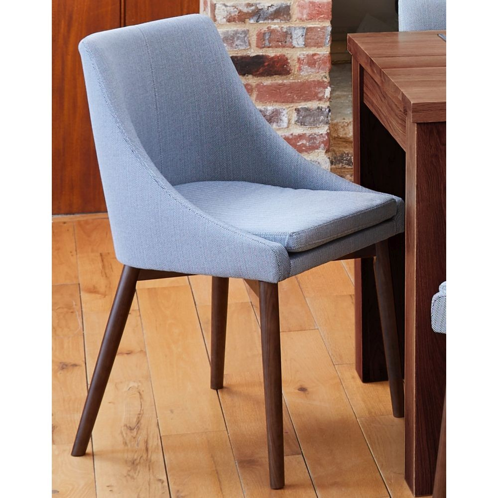 Shiro Solid Walnut Furniture Grey Upholstered Dining Chair Buy Online