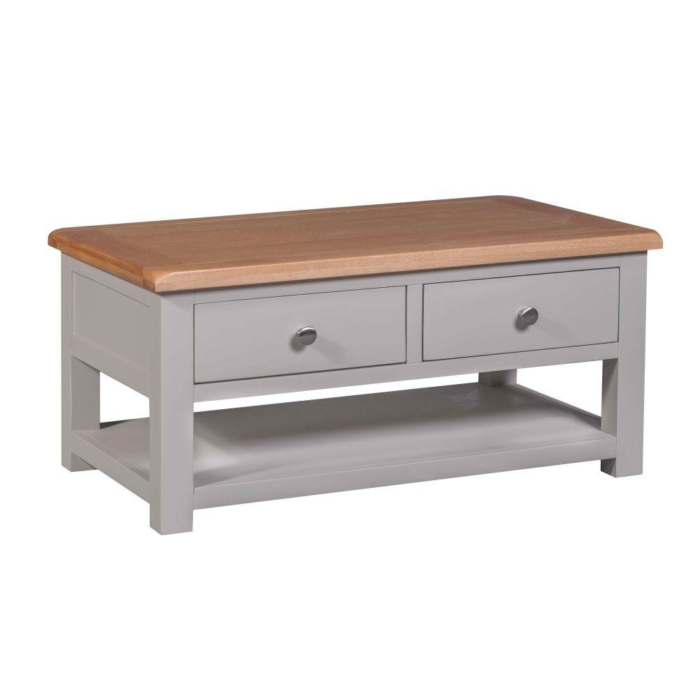 Diamond Grey Painted Furniture Storage Coffee Table Sale