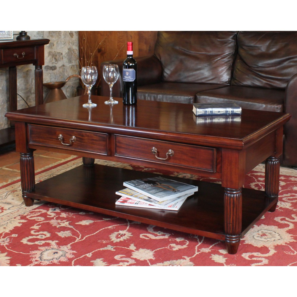 La Roque Mahogany Furniture Storage Coffee Table Sale
