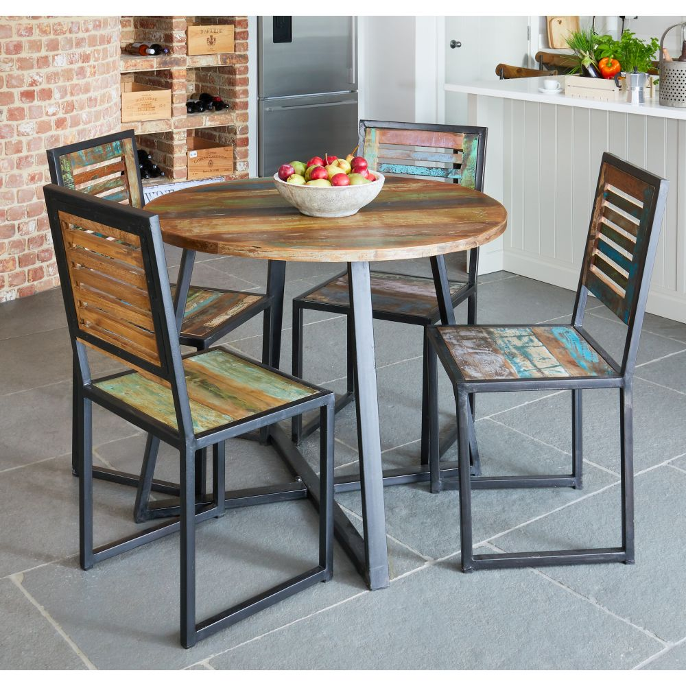 Urban Chic Reclaimed Furniture Round Dining Table Sale