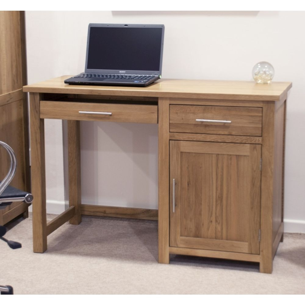 Opus Solid Oak Furniture Small Office Computer Desk Sale