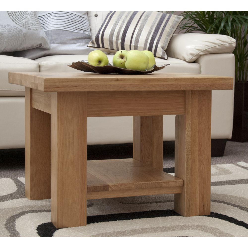 Torino Solid Oak Furniture Square Coffee Table Sale Now On