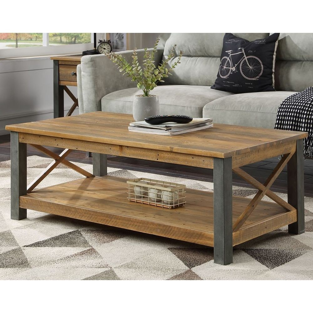 Urban Elegance Reclaimed Coffee Table Living Room Sale